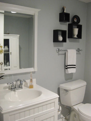 Katie bower visit half bathroom yhl galleries for White and gray bathroom ideas