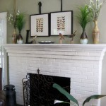 Lovely & Light: Living Room Fireplace